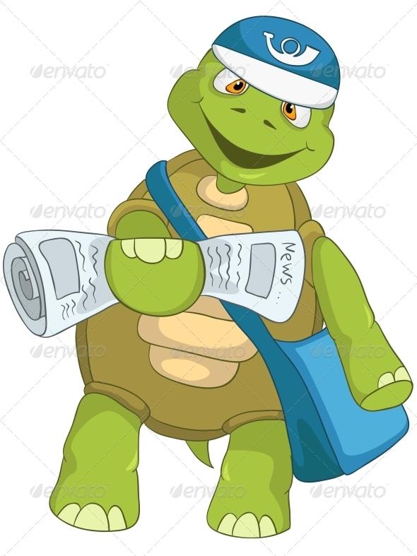 GraphicRiver Turtle Postman 4968763