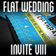 Flat Wedding Invite VIII - GraphicRiver Item for Sale