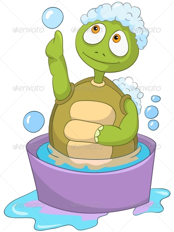 GraphicRiver Turtle Baby Washing 4968911