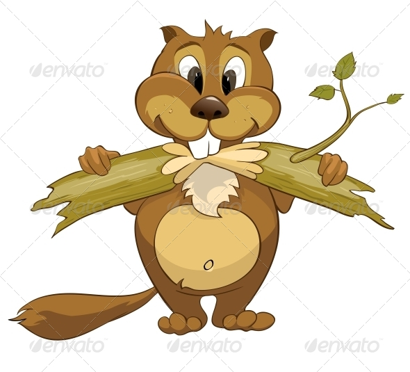 GraphicRiver Cartoon Character Beaver 4969174
