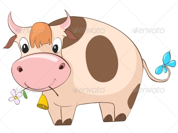GraphicRiver Cartoon Character Cow 4969231