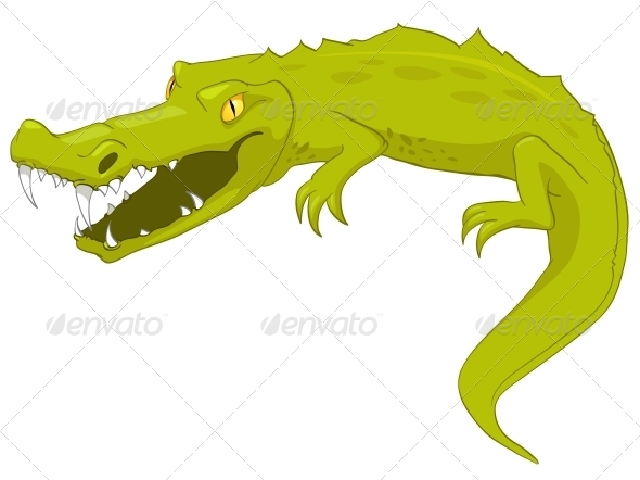 GraphicRiver Cartoon Character Crocodile 4969236