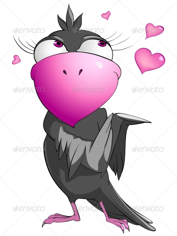 GraphicRiver Cartoon Character Funny Bird 4969238
