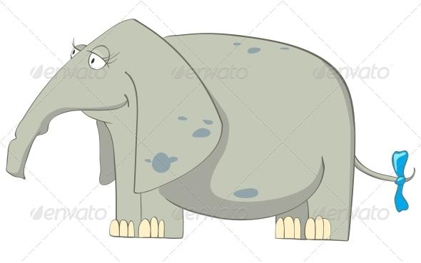 GraphicRiver Cartoon Character Elephant 4969247
