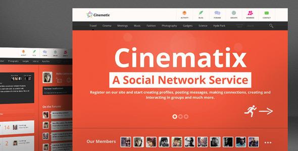 ThemeForest Cinematix BuddyPress Theme 4959387