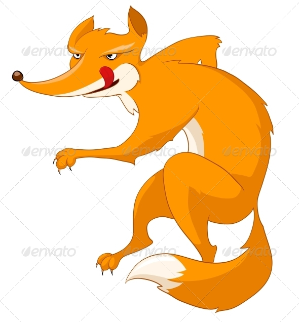GraphicRiver Cartoon Character Fox 4969259
