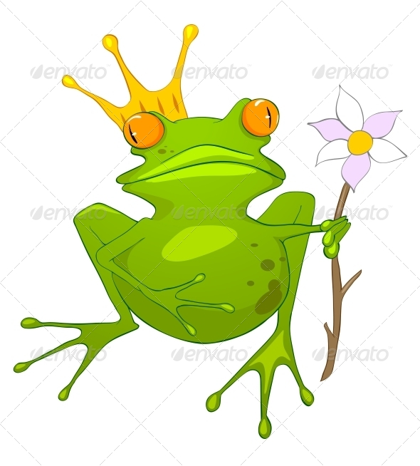 GraphicRiver Cartoon Character Princess Frog 4969260