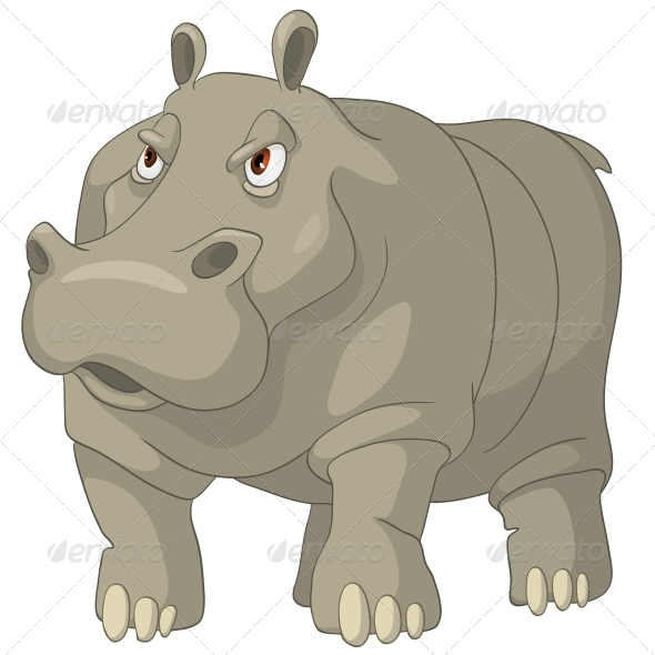 GraphicRiver Cartoon Character Hippopotamus 4969352