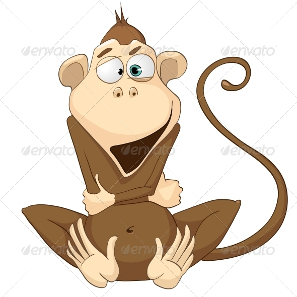 GraphicRiver Cartoon Character Monkey 4969403