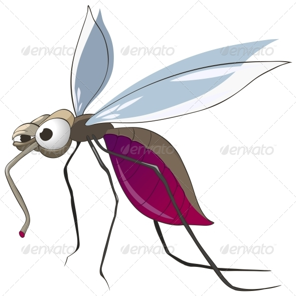 GraphicRiver Cartoon Character Mosquito 4969422