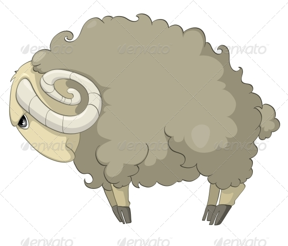 GraphicRiver Cartoon Character Sheep 4969457