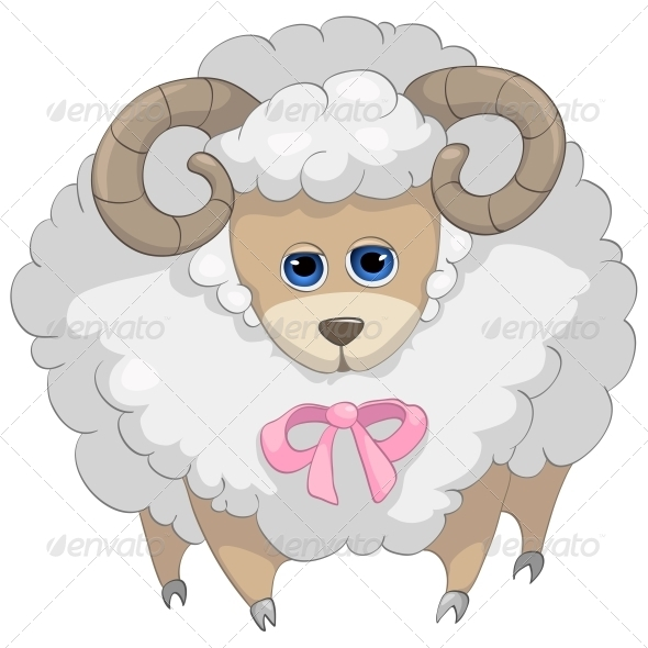 GraphicRiver Cartoon Character Sheep 4969461