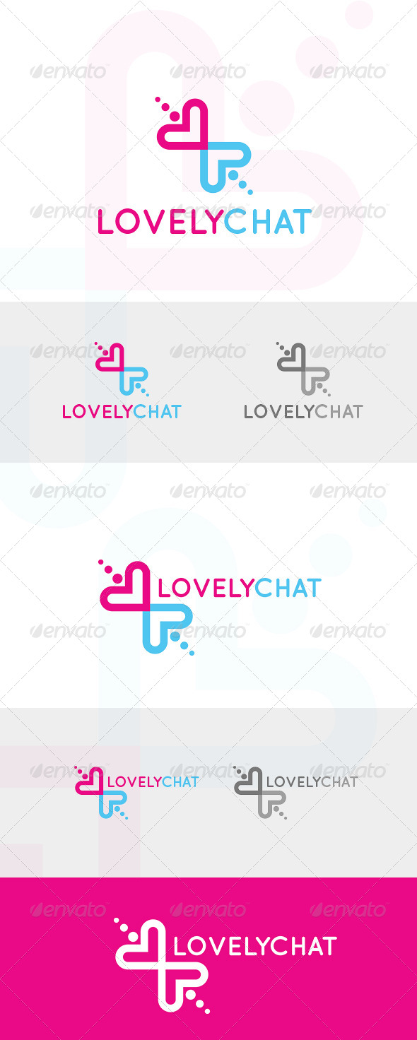 GraphicRiver Lovely Chat Logo 4948189