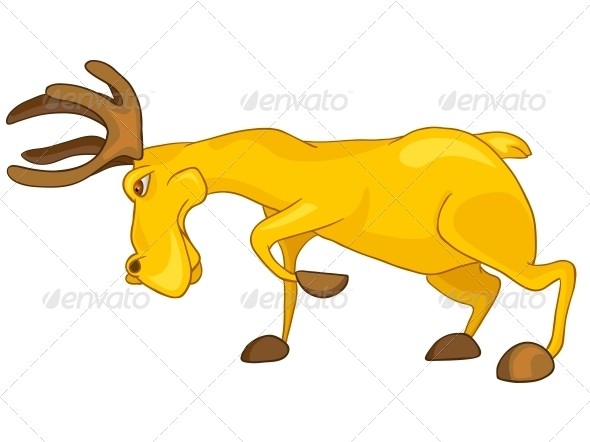 GraphicRiver Cartoon Character Elk 4969712