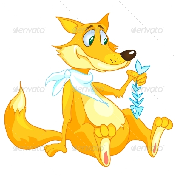 GraphicRiver Cartoon Character Fox 4969754