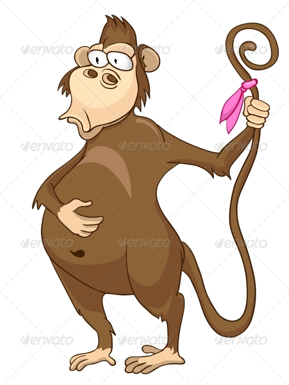 GraphicRiver Cartoon Character Monkey 4969975