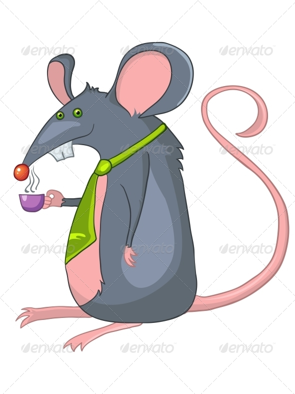 GraphicRiver Cartoon Character Rat 4970112