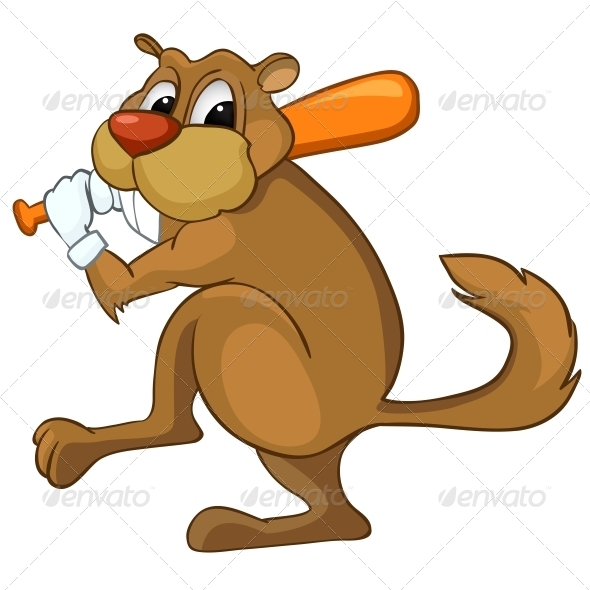 GraphicRiver Cartoon Character Beaver 4970164