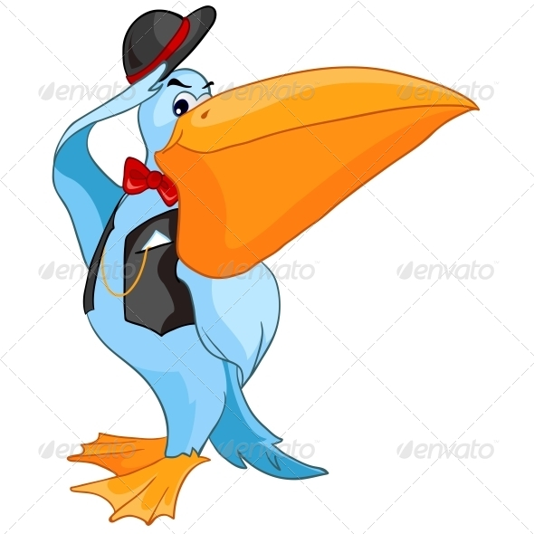 GraphicRiver Cartoon Character Pelican 4970338