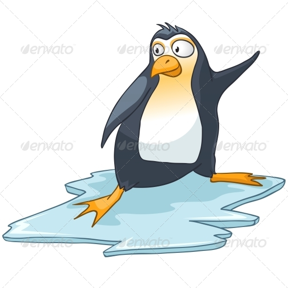GraphicRiver Cartoon Character Penguin 4970339