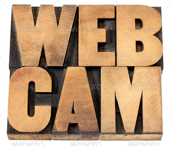 webcam word in wood type - Stock Photo - Images