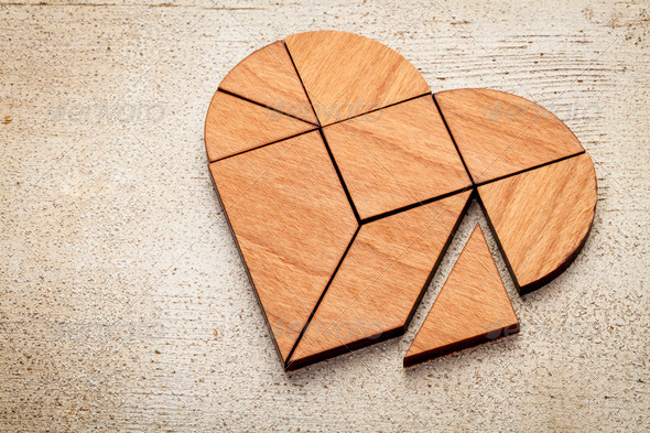 heart tangram - Stock Photo - Images
