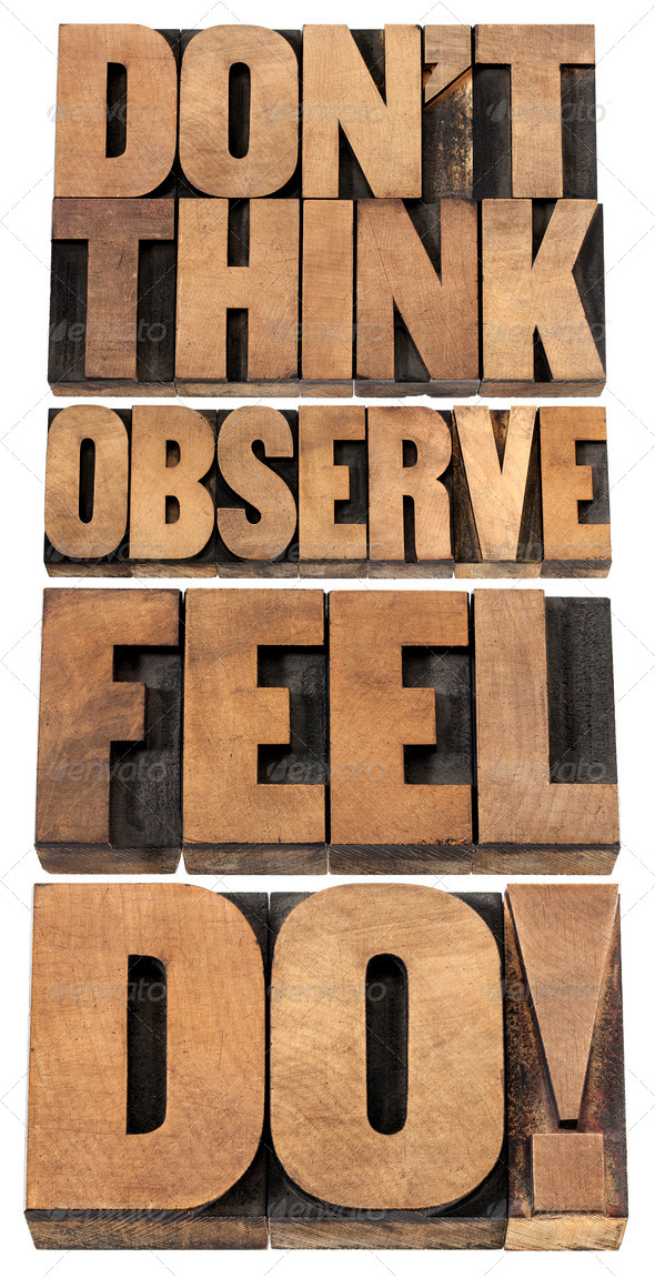 observe, feel and do - Stock Photo - Images