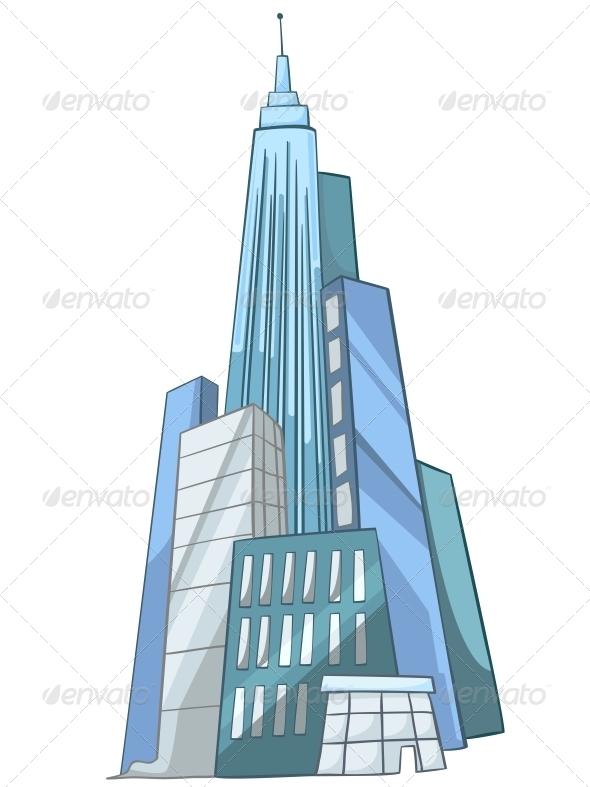 GraphicRiver Cartoon Skyscraper 4970393