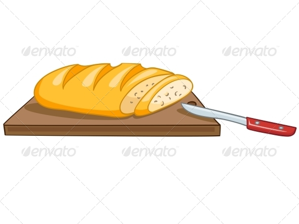 GraphicRiver Cartoon Food Bread 4970407