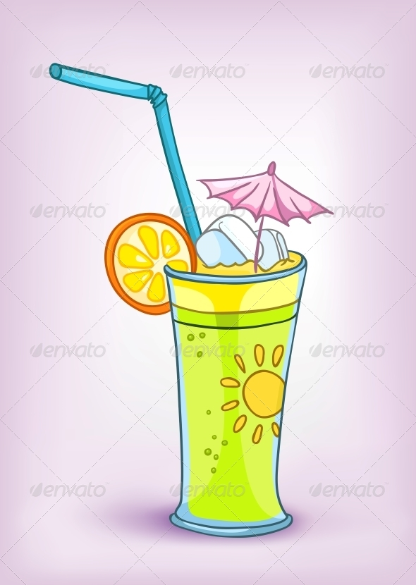 GraphicRiver Cartoon Food Drink Cocktail 4970412