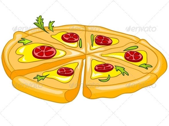 GraphicRiver Cartoon Food Pizza 4970429
