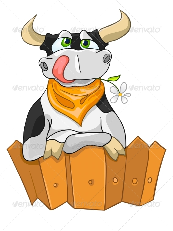 GraphicRiver Cartoon Character Cow 4970441