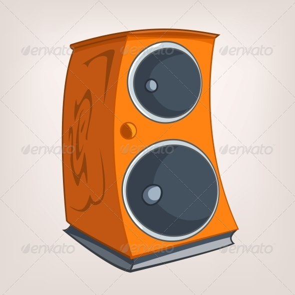 GraphicRiver Cartoons Home Appliances Speaker 4970519