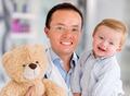 Happy pediatrician