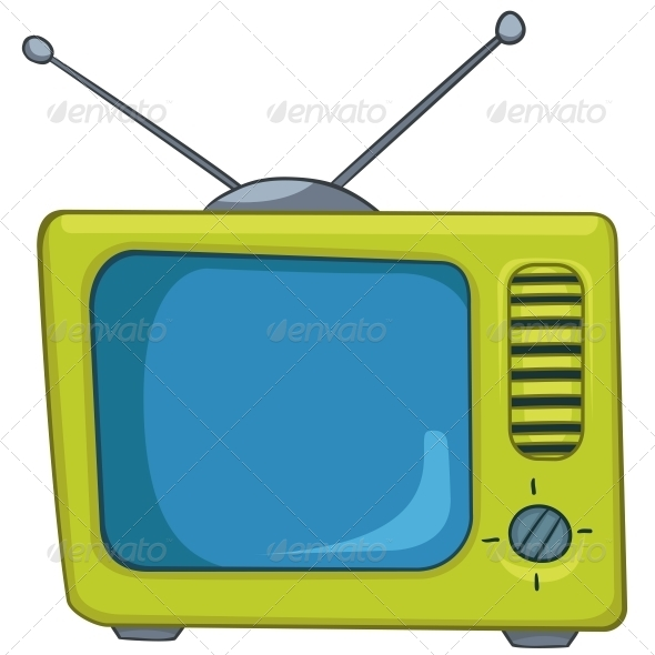 GraphicRiver Cartoon Appliences Old TV 4970520