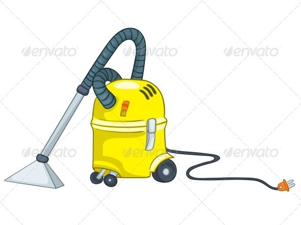 GraphicRiver Cartoon Appliences Vacuum 4970533