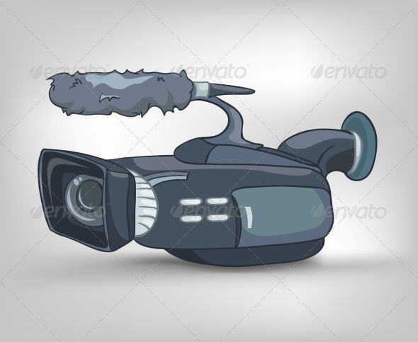 GraphicRiver Cartoons Home Appliances Video Camera 4970534