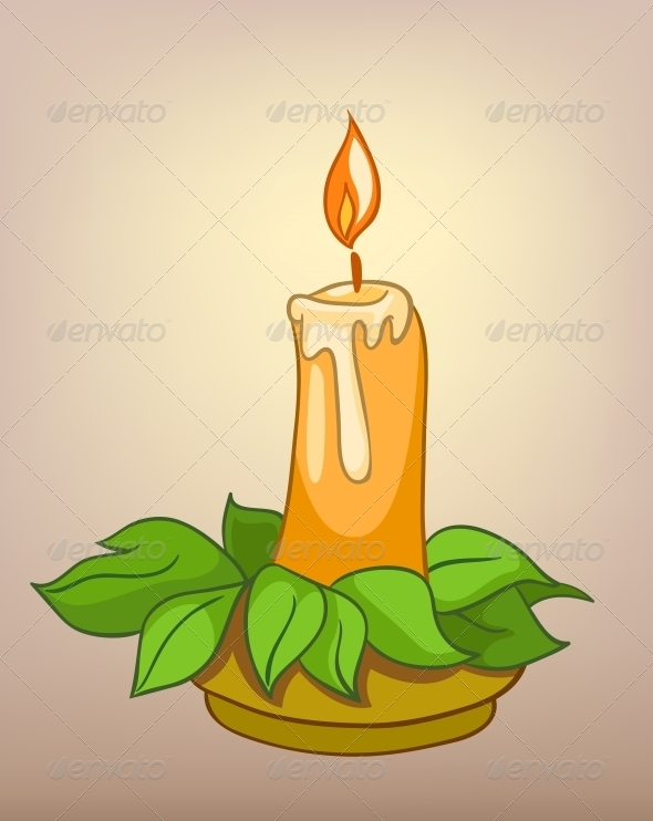 GraphicRiver Cartoons Decoration Candle 4970557
