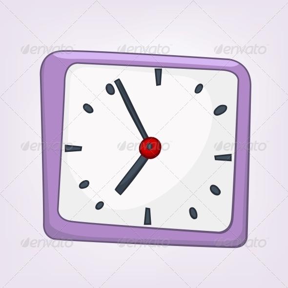 GraphicRiver Cartoon Home Clock 4970564
