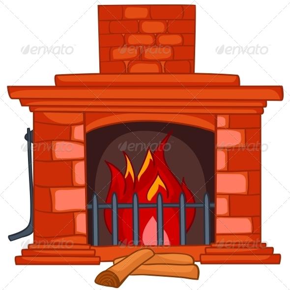 GraphicRiver Cartoon Home Fireplace 4970566