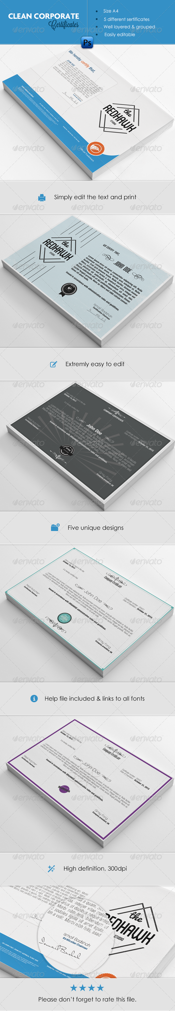 GraphicRiver Certificate Pack 4895014