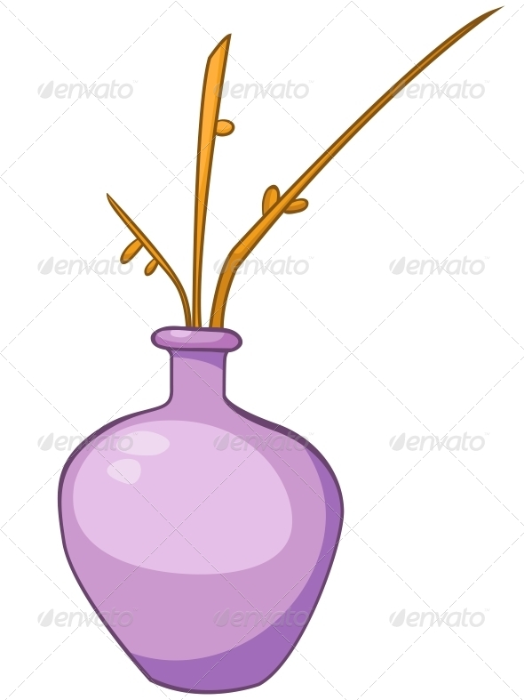 GraphicRiver Cartoon Home Vase 4970652