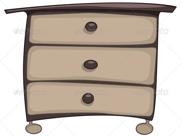 GraphicRiver Cartoon Home Furniture Chest of Drawers 4970674