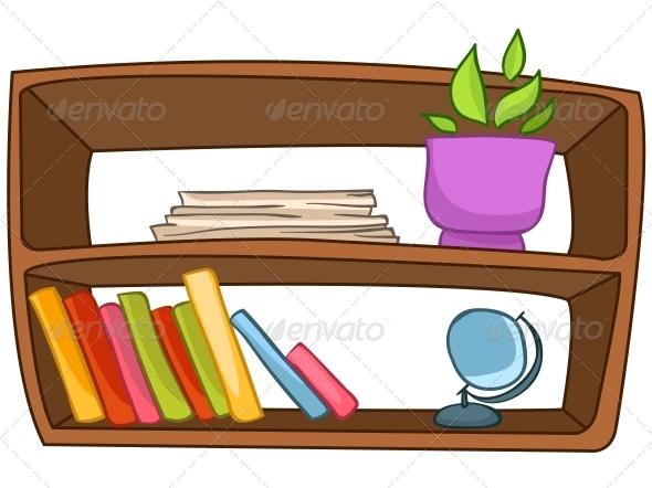 GraphicRiver Cartoon Home Furniture Book Shelf 4970702