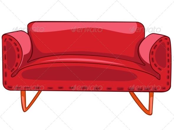 GraphicRiver Cartoon Home Furniture Sofa 4970710