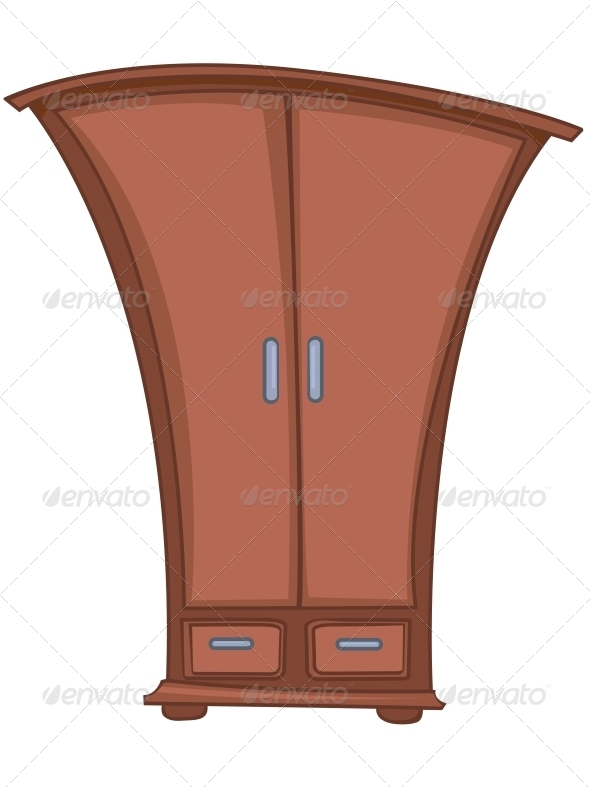 GraphicRiver Cartoon Home Furniture Wardrobe 4970732