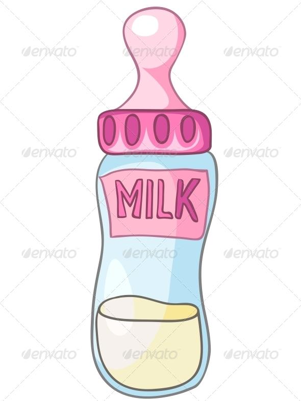GraphicRiver Cartoon Home Kitchen Milk Bottle 4970794