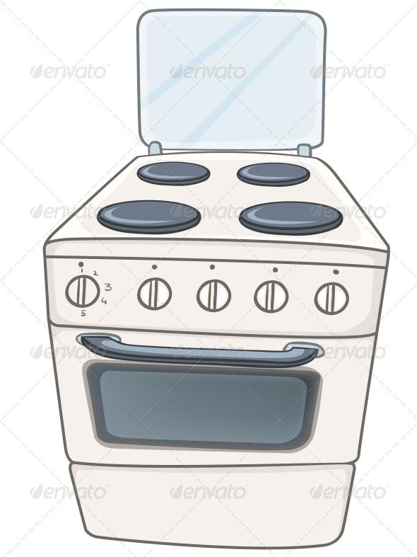 GraphicRiver Cartoon Home Kitchen Stove 4970812