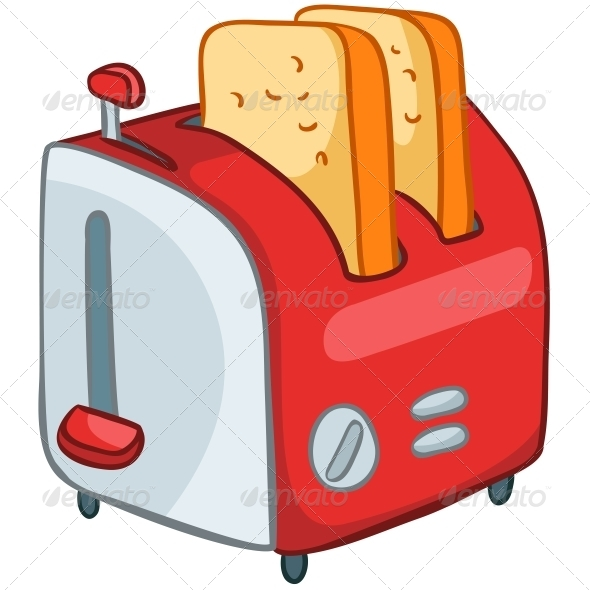 GraphicRiver Cartoon Home Kitchen Toaster 4970814