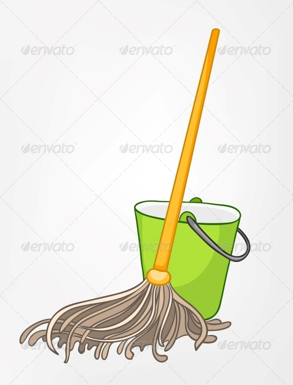 GraphicRiver Cartoon Home Miscellaneous Mop 4970820